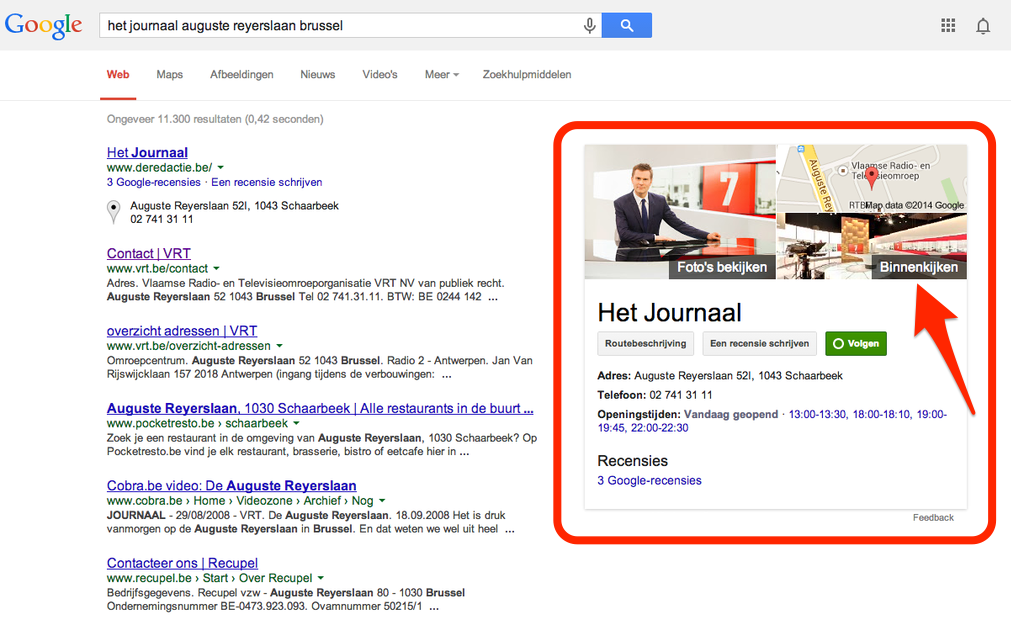 Google Business View: Het VRT Journaal