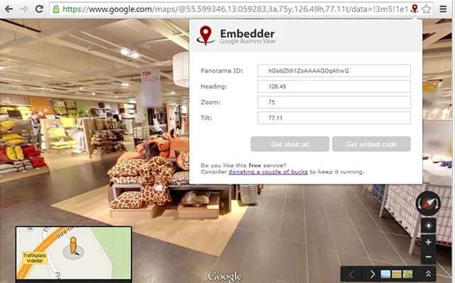 Embedder extensie Google Chrome