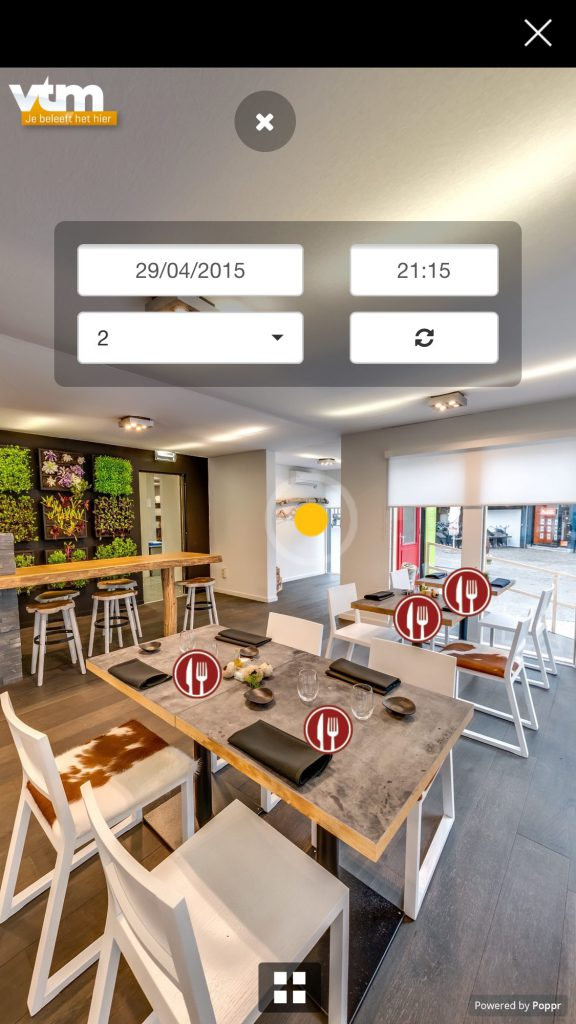 Virtual Tour Mijn Pop-uprestaurant Aalst 2015