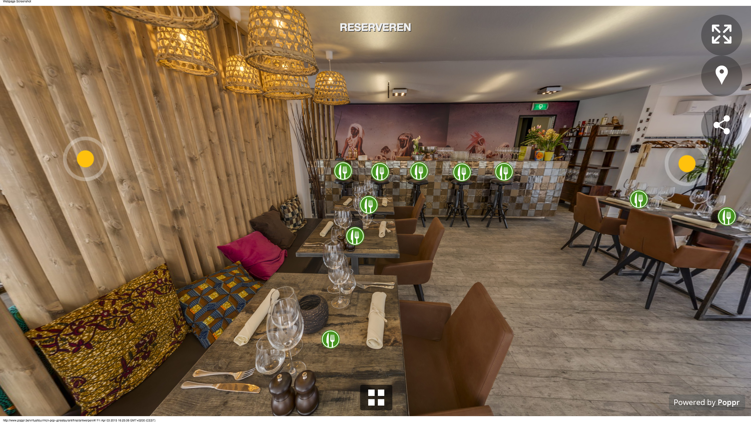 Virtual Tour Mijn Pop-uprestaurant Virtuele Restaurant Reservaties VTM 2015