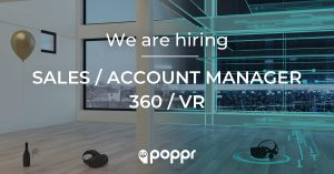 vacature sales account manager 360 vr virtual reality belgium poppr gent