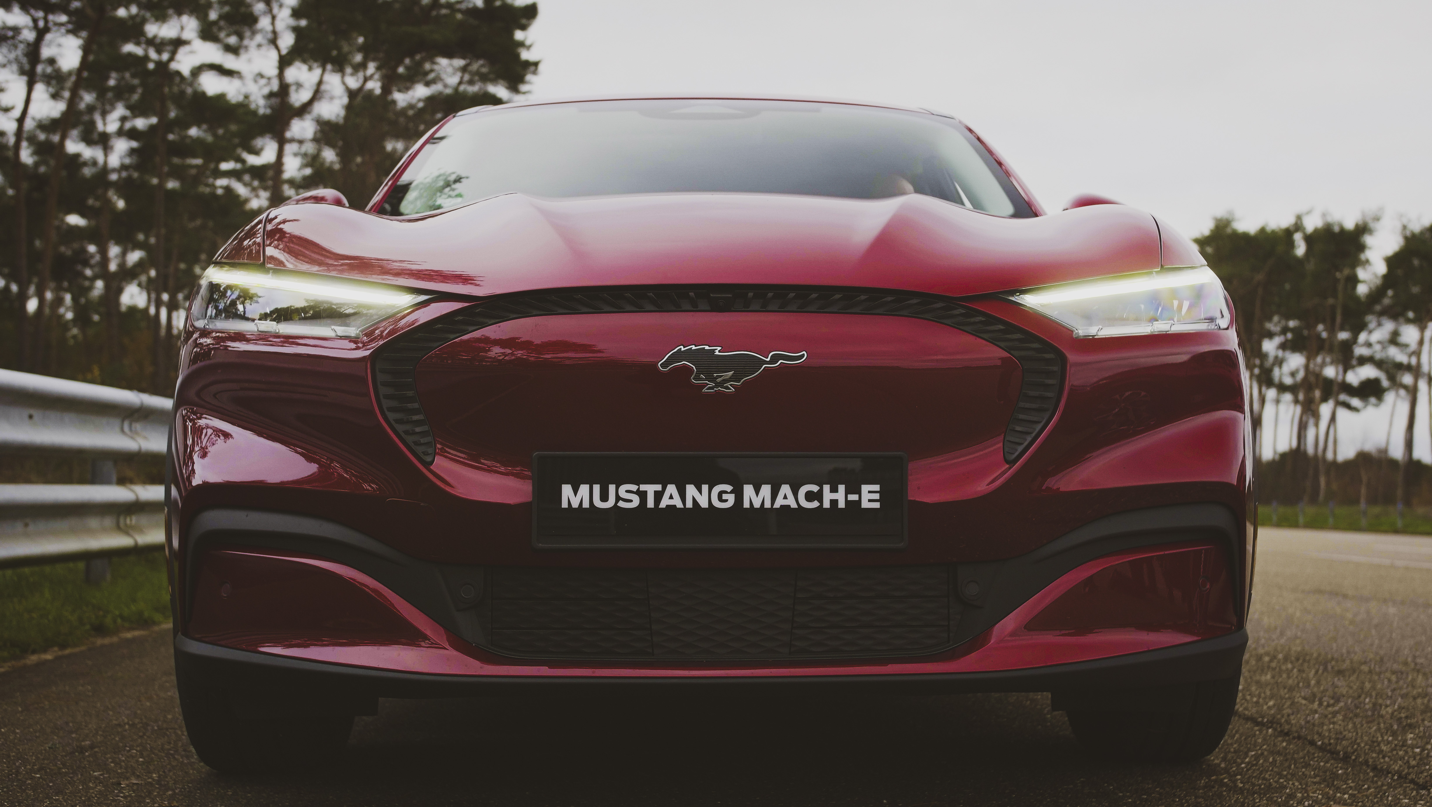 Ford-mustang-mache-electric-car-360video-360drone